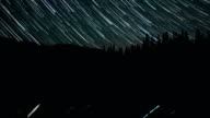 Anthony Lake Reflection Shooting Star Trails Night Time Lapse