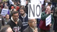 Anti austerity protesters urge Spain on October 27 2012 in Madrid Spain
