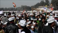 Anti corruption champion Arvind Kejriwal promises to serve the common man as he is sworn in as chief minister of New Delhi in what supporters hope...