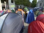 Anticapitalist demonstrators camp outside St Paul's Cathedral
