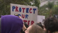 KTLA AntiDakota Access Pipeline Protesters March in Downtown LA