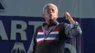 Antigovernment leader Suthep Thueaksuban sings during a rally on stage in Bangkok He is a Thai politician and former Member of Parliament for Surat...