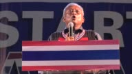 Antigovernment leader Suthep Thueaksuban speaks during a rally on stage in Bangkok He is a Thai politician and former Member of Parliament for Surat...