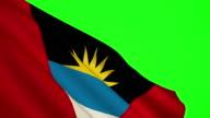Antigua and Barbuda Flag green screen