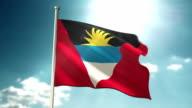 Antigua and Barbuda Flag sky