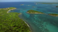Antigua's Great Bird Island and other smaller islands in the Caribbean.