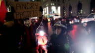 AntiNYPD protesters march through Fifth Avenue Manhattan on December 23 2014 in New York City Despite calls from New York City Mayor Bill de Blasio...