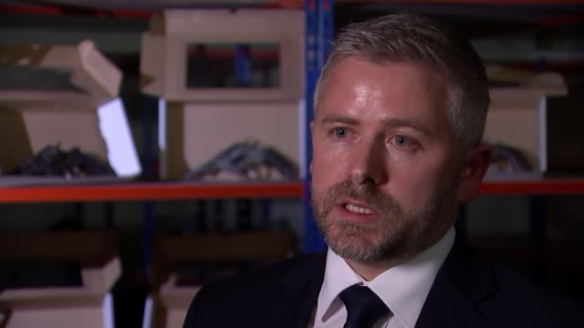 Antique gun dealer found guilty of supplying guns to criminal gangs Detective Constable Phil Rodgers interview SOT GVs Antique guns on display on...