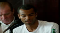 Ashley Cole meets schoolchildren Ashley Cole press conference SOT On having to learn to deal with it [racism] throughout his career / It is good that...