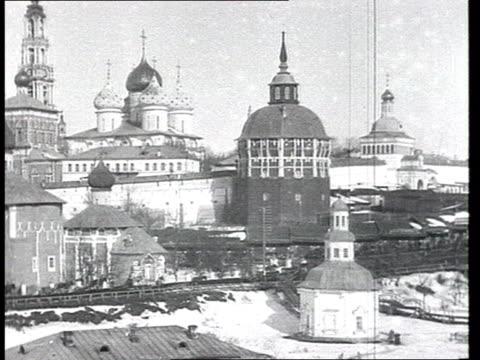Antireligious propaganda Orthodox church is banned Sergey Radonezhsky's relics exhibited ifro people in Serguiyevo or Sergiyevo autopsy stripping off...