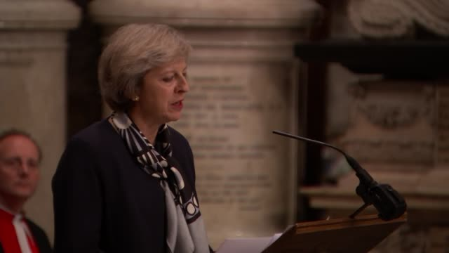 service at Westminster Abbey Theresa May MP speech SOT Unidentified man speech SOT