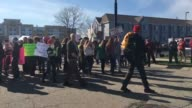 AntiTrump protesters outside of his campaign rally in Janesville Trump supporters shout at protesters SOTs include Thomas Savage and Tammy Gentry...