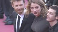 Antoine Reinartz Adele Haenel Arnaud Valois at 'Come Swim' Red Carpet at on May 20 2017 in Cannes France