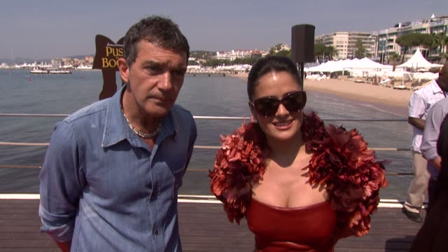 Antonio Banderas and Salma Hayek at the Puss in Boots Launch 64th Cannes Film Festival at Cannes