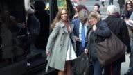 Antonio Brown Sharna Burgess Geraldo Rivera and Edyta Sliwinska arriving at 'Planet Hollywood' in New York City in Celebrity Sightings in New York