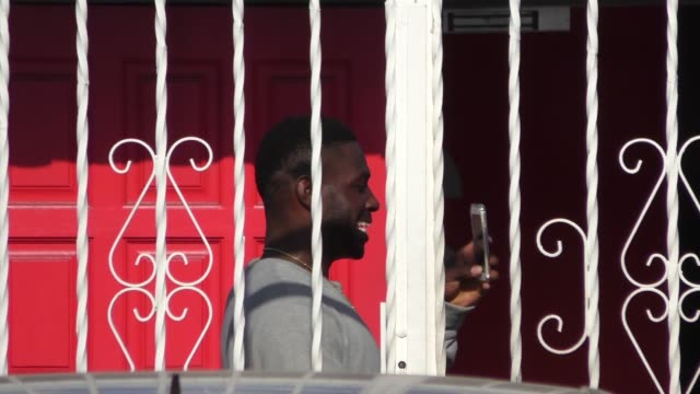 Antonio Brown snapchatting outside Dancing With The Stars Studios in Hollywood at Celebrity Sightings in Los Angeles on May 01 2016 in Los Angeles...