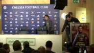 Antonio Conte denies he will leave Chelsea for Inter Milan at end of season ENGLAND London INT Antonio Conte arriving at press conference and taking...