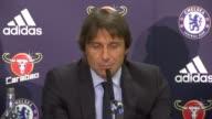 London Stamford Bridge PHOTOGRAPHY*** Antonio Conte along for press conference Antonio Conte press conference SOT