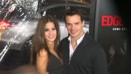 Antonio Sabato Jr and guest at the 'Edge of Darkness' Premiere at Los Angeles CA