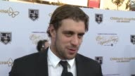 INTERVIEW Anze Kopitar on tonight's gala at 2016 Children's Hospital Los Angeles 'Once Upon a Time' Gala in Los Angeles CA