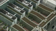 AERIAL Apartment blocks in uniformed rectangles, Baden, Aargau, Switzerland