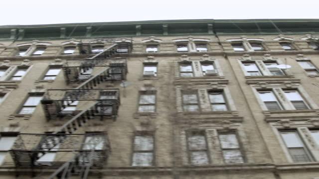 MS LA POV Apartment buildings along Madison Avenue in Manhattan / New York, United States