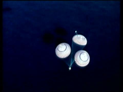 Apollo 17, splashdown into ocean, high angle