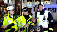 Press conference ENGLAND London Apollo Theatre PHOTOGRAPHY** Injured person on stretcher being wheeled along by paramedics / Kev Brown Chief...