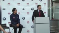 Apolo Anton Ohno and Jack Pitney at the BMW Group The United States Olympic Committee Announce New Partnership at New York NY