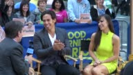 Apolo Anton Ohno and Karina Smirnoff at the 'Good Morning America' studio Apolo Anton Ohno and Karina Smirnoff at the 'Good on September 21 2012 in...