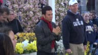 Apolo Anton Ohno at the 'Good Morning America' studio in New York NY on 4/25/13
