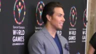 Apolo Ohno arriving to the Special Olympics Celebrity Dance Challenge at Wallis Annenberg Center for the Performing Arts in Beverly Hills in...