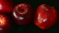 Apple. Close up. Top view.