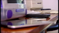 Apple cofounder Steve Jobs dies aged 56 ENGLAND London Vint Cerf interview SOT Close shot of early Apple computers on desk Paul Davis interview SOT...