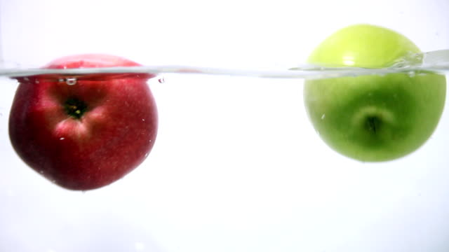 Apples are Splashing Into the Water