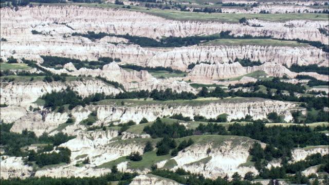 Approach To Buffalo Gap National Grasslands  - Aerial View - South Dakota, Jackson County, United States