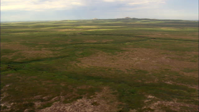 approach to castle rock butte - Aerial View - South Dakota,  Butte County,  United States