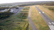 Approach to small airport runway and ramp area