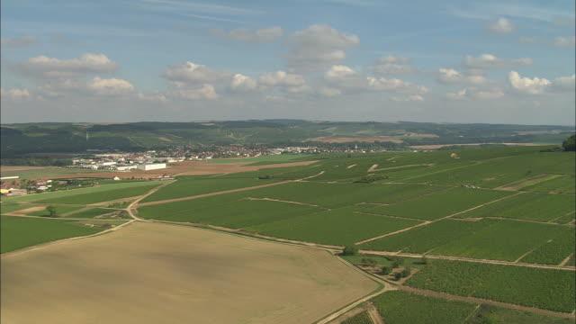Approaching Chablis Across Vineyards