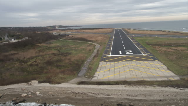 Approaching Elizabeth Field Airport, Fishers Island, New York. Shot in November 2011.