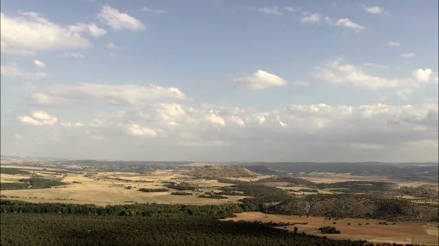 Approaching Gormaz Castle  - Aerial View - Castille and León, Soria, Gormaz, Spain