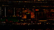 Approaching Las Vegas At Night  - Aerial View - Nevada,  Clark County,  United States