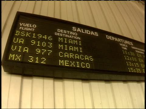 April 1 1994 LA Departure schedule at airport / Havana Cuba