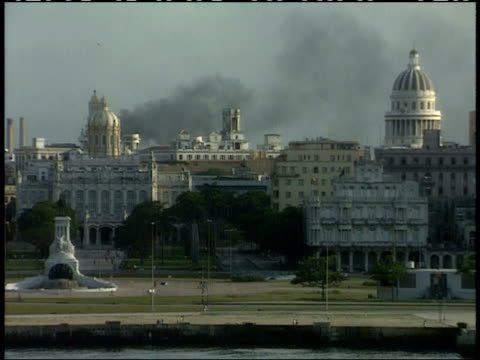 April 1 1994 ZO Monument to General Maximo Gomez Museum of the Revolution the capitol dome surrounding city landscape of buildings and Morro Castle...
