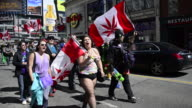 April 20 or 420 is a traditional event celebrated every year in Toronto Activists for the legalization of Cannabis or Marihuana march and gather in...