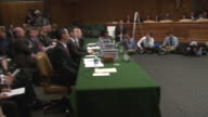April 23 2010 PAN A hearing on the 2008 stock market crash being held before an audience at the Capitol / Washington District of Columbia United...