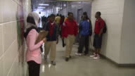 April 25 2010 MS Students in school hallway / Marks Mississippi United States