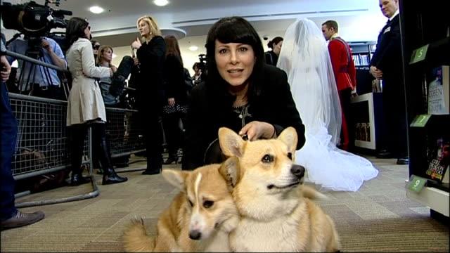 April Fool's Day Alison Jackson spoof Royal Wedding Alison Jackson interview SOT Close shot of corgi dogs Photographer Kate Middleton lookalike TILT...