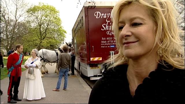 April Fool's Day Alison Jackson spoof Royal Wedding general views Alison Jackson interview SOT Queen Elizabeth lookalike taking seat in carriage...