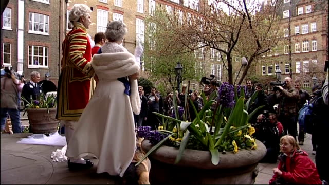 April Fool's Day Alison Jackson spoof Royal Wedding **Music Chapel of Love by the Dixie Cups overlaid SOT** St Pauls' Church Various views of...